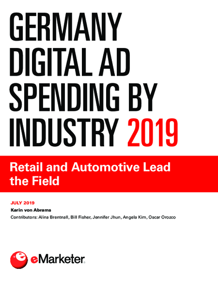 Germany Digital Ad Spending by Industry 2019