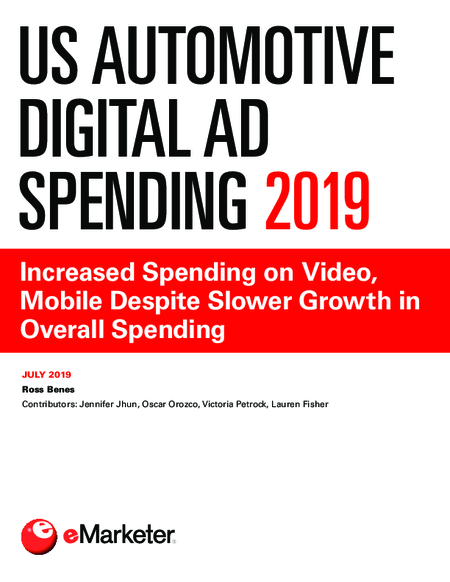 US Automotive Digital Ad Spending 2019