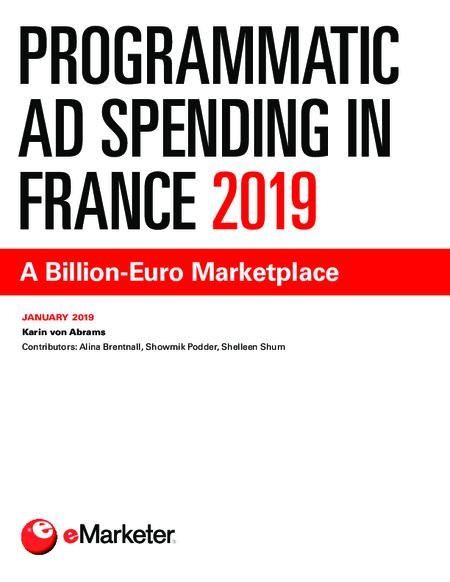 Programmatic Ad Spending in France 2019