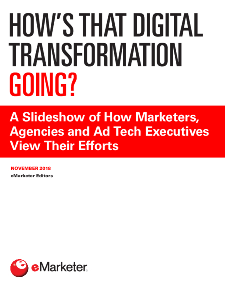 How's that Digital Transformation Going?
