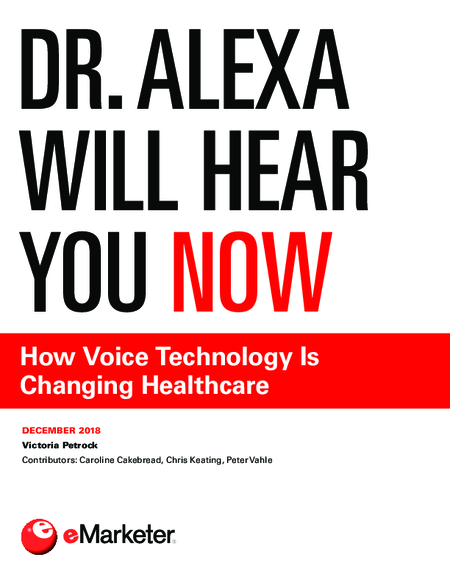 Dr. Alexa Will Hear You Now