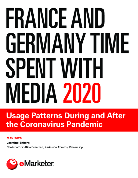 France and Germany Time Spent with Media 2020