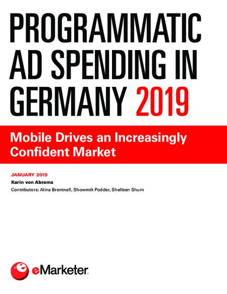Programmatic Ad Spending in Germany 2019